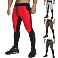 mens gym fitness running pants sport jogging long trousers slim fit joggers sportswear workout training tight pants sweatpants