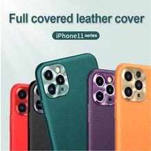 Avec lentille de Caméra Pour iphone SE 2020 11 Pro Max X XS XR Luxe Leatner Pour iphone 6 6S 7 8 Plus Protecteur Housse