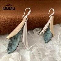 elegant blue water drop imitation stone long earrings female fashion jewelry earrings diy jewelry making earring accessories