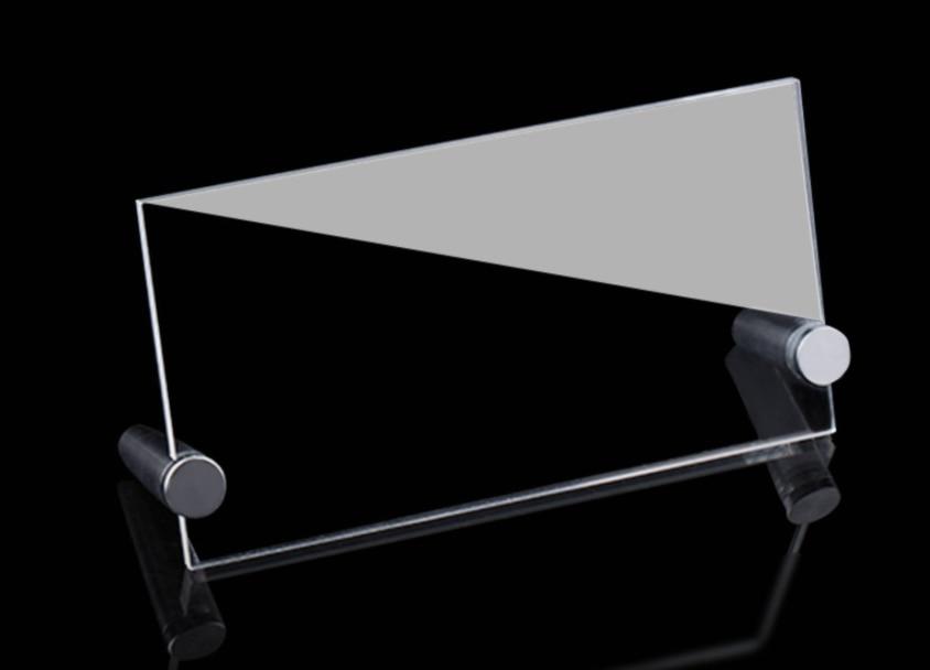 L-образная прозрачная настольная карта акриловое меню презентация продукта прайс-лист сертификат рамка дисплея