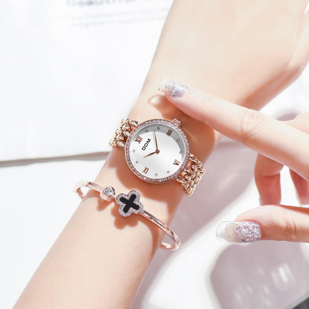 DOM Watches Women Fashion Watch 2019 Top Brand Female Fashion Wrist Watches Waterproof Women Steel Bracelet Watches G-1235G-7M enlarge