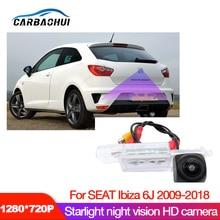 Auto Hd Achteruitrijcamera Voor Seat Ibiza 6J 2009 2010 2012 2014 2016 2018 Ccd Nachtzicht Kenteken reverse Camera