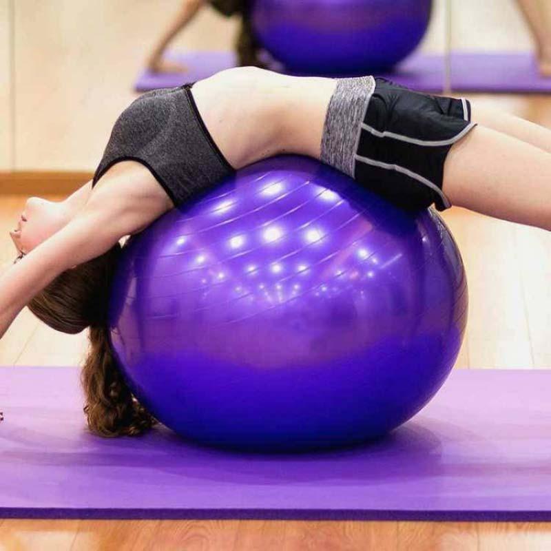 Balles de Yoga sport Bola Pilates Fitness gymnastique Balance Fitball exercice entraînement Pilates entraînement balle de Massage 55cm 65cm 75cm 85cm