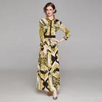 long dresses for women elegant party wedding evening printing vintage ankle length turn down collar autumn big shirt maxi dress