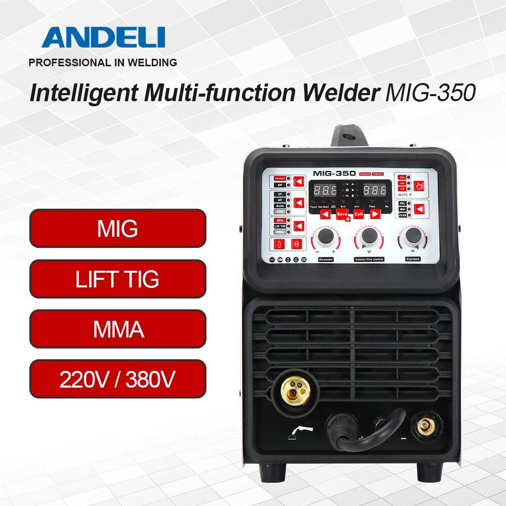 Сварочный аппарат ANDELI MIG-350 220 В/380 В, сварочный аппарат MIG/LIFT TIG/MMA TIG