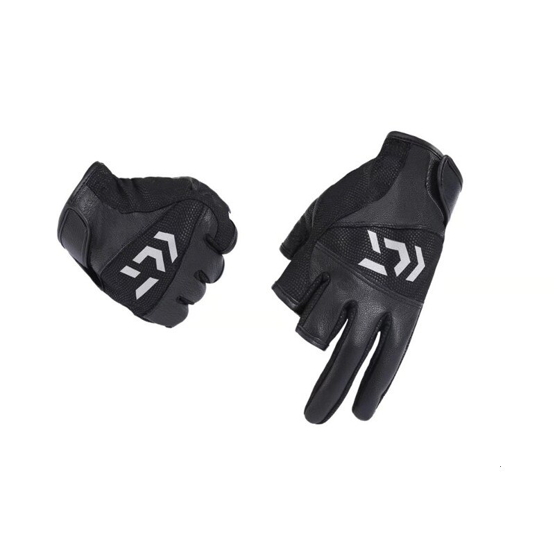 Black Warm PU Fishing Gloves For men Sunscreen Winter Male Waterproof Fishing Glove Special Flying Fishing Catch Fish Glove