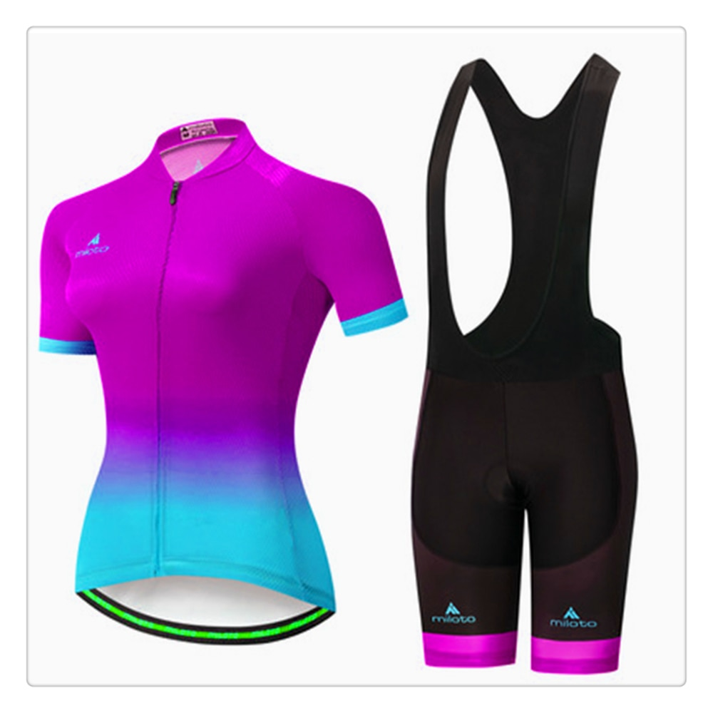 Pro Team-Conjunto de camiseta de Ciclismo de manga corta para mujer, Ropa...