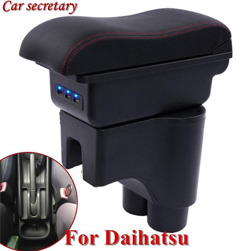 Secretaria de coche para Daihatsu Terios 2 Caja de apoyabrazos tienda central compartimento de almacenamiento productos interior apoyabrazos almacenamiento accesorios piezas