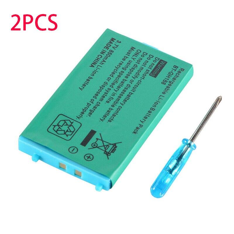 2 uds., batería de iones de litio recargable de 850mAh + Kit de herramientas para Nintendo GBA SP, para Nintendo Game Boy Advance