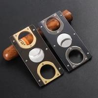 cigar cutter double blades plated pocket gadgets zigarre cutter knife cuban cigars scissors cigar accessories c3282