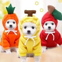 pet clothe cute winter warm dog clothes soft fleece coat for small dogs plush coat hoodies dog cat tshirt puppy outfit