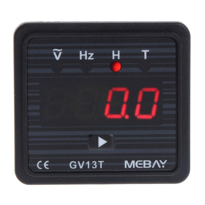 AC 220V Generator LCD Digital Voltmeter Frequency Test Hour Meter