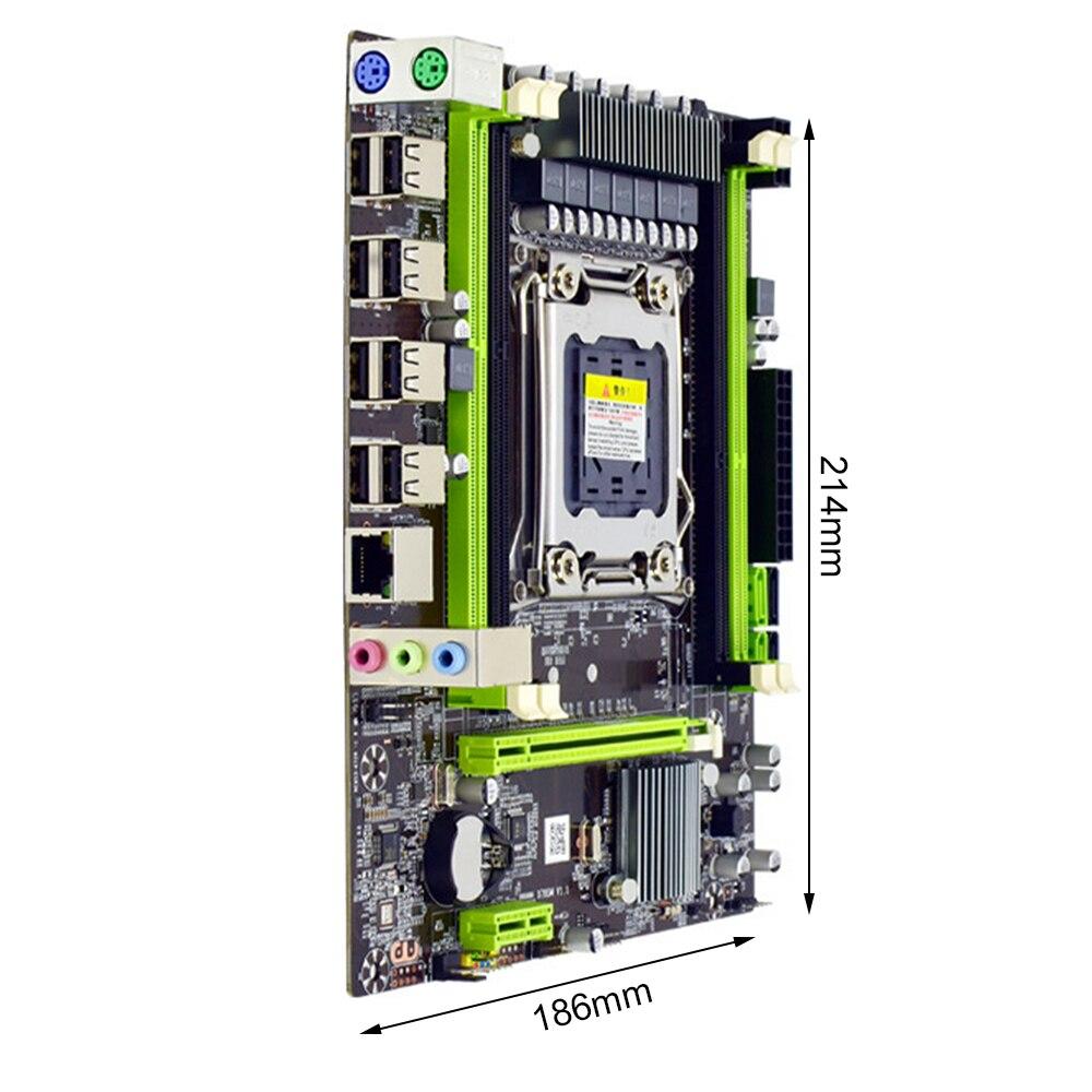 اللوحة الأم X79S LGA 2011 Pin CPU 4 فتحة DDR3 64G ذاكرة 4 قنوات SATA 3.0 الكمبيوتر 8 دبوس 24 دبوس PCI-E X16 اللوحة الأم