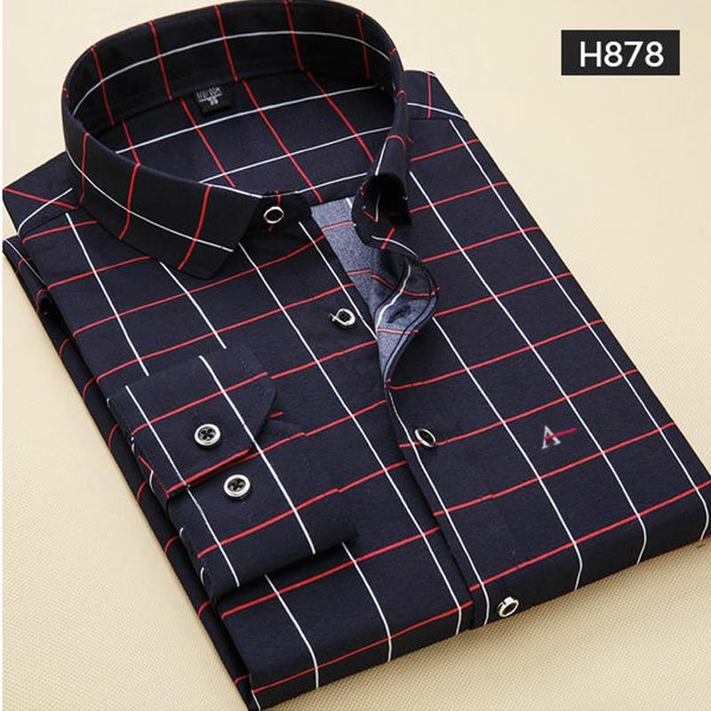 2020 New Brand aramy Men Shirts Cotton Fashion Long Sleeve Casual Shirt Tops Floral Print Embroidery Dress Men Blouses shirt
