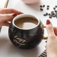 530ml coffee mug vintage unique nordic style ceramic tea milk coffee cups breakfast cup office water bottle creative gift