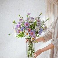 Bouquet de fausses fleurs sechees style neerlandais  fausse camomille  chrysantheme sauvage  decoration de maison  accessoires de photographie