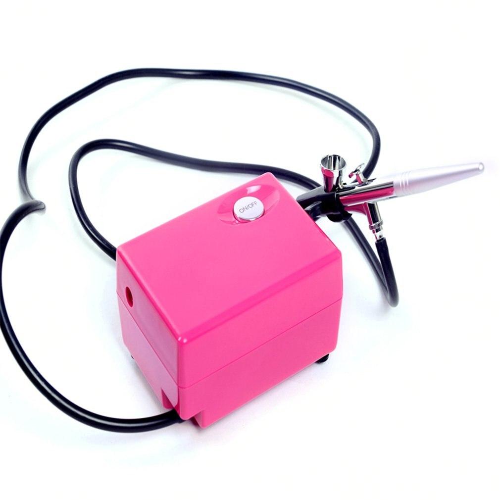 Maquillaje de belleza exquisito 7,5 l/min 15-25PSI Flujo de presión de trabajo Mini pistola rociadora bomba de aire Set 110 v-230 v