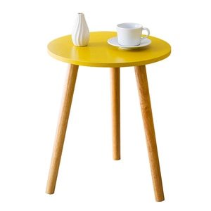 Solid Wood Tea Table Sofa Side  Nordic Style Small Round     Modern Simple Corner Several Bedside s