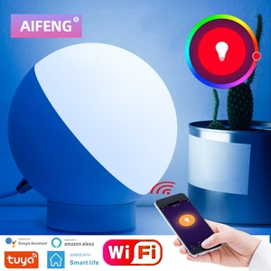 AIFENG WIFI Control Table Lamp Intelligent RGB 110V/220V LED Table Light 16 Million Colors Table Lamps For Living Room Bedroom