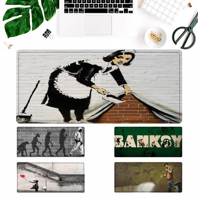 Мягкий коврик для мыши с граффити Banksy, игровой коврик для клавиатуры, Настольный коврик для мыши, игровые аксессуары для Overwatch