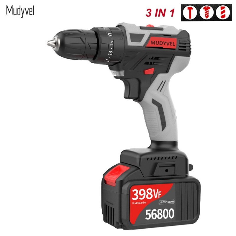 cordless drill 21v power tools 3 in 1 with impact function rotary tool electric screwdriver Cordless Drill 21V Rotary Tool Power Tools Brushless Motor Two-Speed High Power Impact Electric Screwdriver