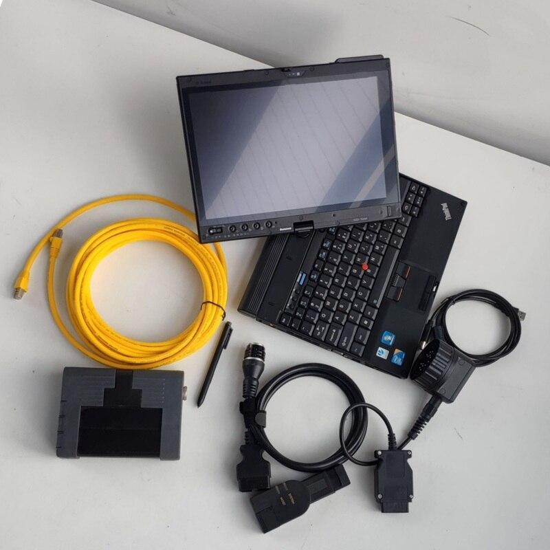 Para bmw icom a2 v05/2020 software ISTA-D 4.22.32 ISTA-P 3.67 istalled em usado tablet x201t i7 cpu 4g ram ferramentas de diagnóstico automático