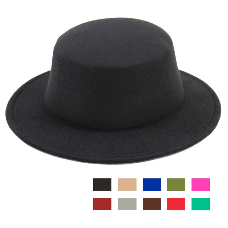2020 Fashion Classic Woolen Fedoras Hat Felt Jazz Hats Floppy Casual Bowler/Derby Panama Cap for Men