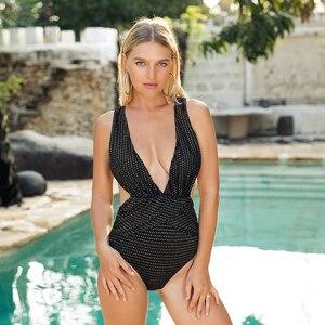 Women Solid Bikinis Sexy Bandage One Piece Backless Swimsuit Female Bathing Suits Bodysuit Beach Wear New Swim Suit Monokini