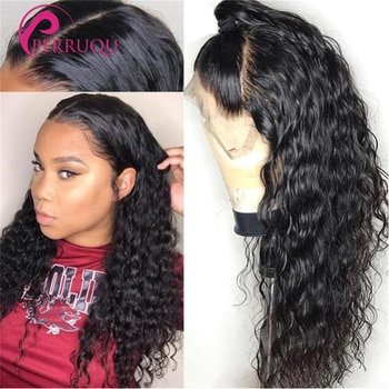 Water Wave Wig 13X6 HD Lace Front Human Hair Wigs For Women Brazilian Perruque 40 Inch 4X4 5X5 6X6 Curly Lace Closure Wig Remy