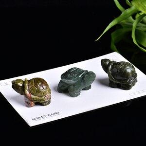 12 in 1 Delicate natural crystal gem turtle tortoise rose quartz amethyst hand-carved sculpture home decoration DIY gift