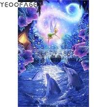 5D Diy Diamond Mosaic Icon dolphin Square Diamond Painting Cross Stitch Kit Rhinestones Diamond Embroidery Fairy Needlework