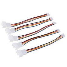 2Pcs/set  Universal Small PH2.0 4 Pin To 4pin Fan  PWM 4 Needles Interface Fan Adapter  For Computer