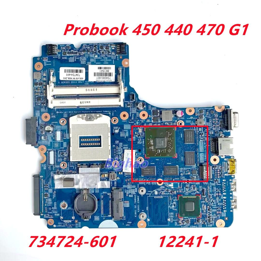 48.4YW03.011 ل HP ProBook 450 G1 440 470 G1 إنتل اللوحة المحمول 734083-601 734083-001 734724-601 12241-1 DDR3 اللوحة