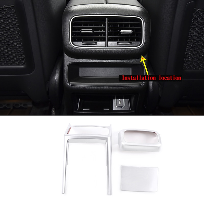 ABS Car Styling for Mercedes-Benz GLE 350 450 2020-2021 Rear Row Air Conditioning Vent Outlet Cover Trim Silver Car Accessories