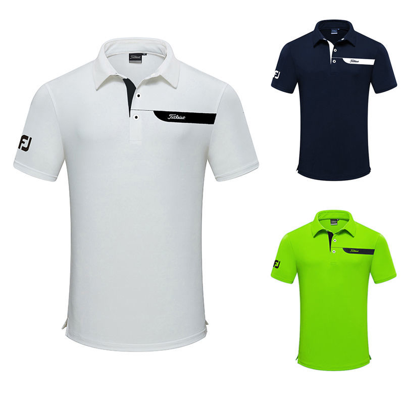 New Men's Short Sleeve Golf T-shirt Quick-drying Breathable Summer Outdoor Sports Sweat Absorbent 2019 new summer ultra thin skin sports outdoor women s quick drying sunscreen waterproof breathable air conditioning jacket