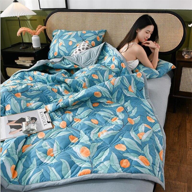 المنسوجات المنزلية الجديدة الفراش لحاف صيفي البطانيات رقيقة المعزي قابل للغسل غطاء السرير اللحف المنسوجات المنزلية مناسبة للكبار الاطفال