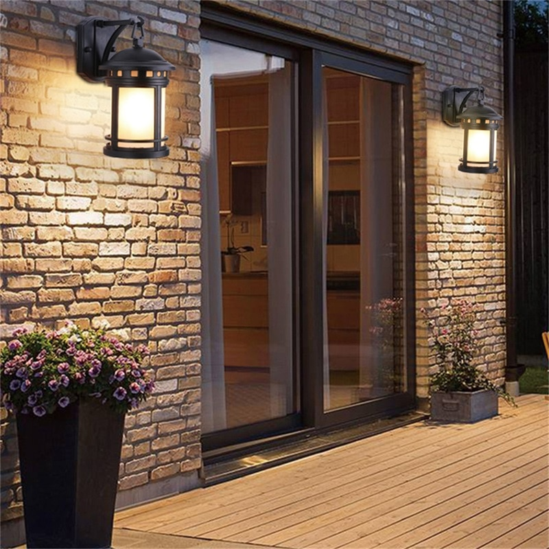 BROTHER Outdoor Retro Wall Lamp Classical Sconces Light Waterproof IP65 LED For Home Porch Villa enlarge