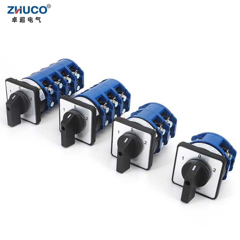 ZHUCO SZW26/LW26-160 160A 240 فولت 3 موقف On-Off-On 1 2 3 4 المرحلة العالمي تغيير كام التبديل D101.1 D202.2 D303.3 D404.4