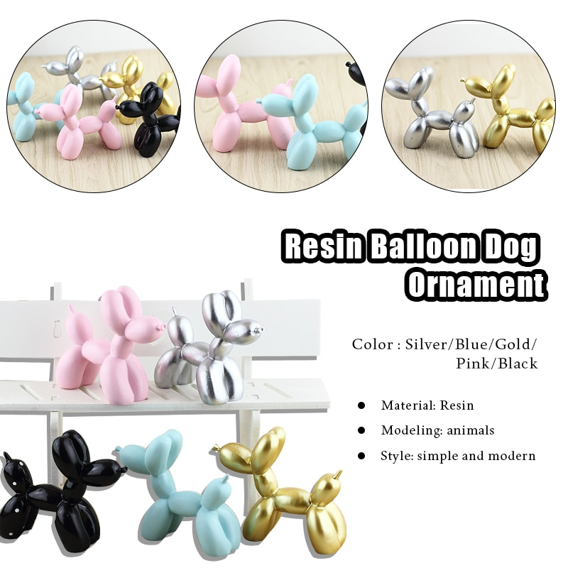 1pcs special resin shoe charms accessories party home decoretion kids children gift cake ice cream and pastry christmas bells Resin Crafts Sculpture Gift Cute Small Balloon Dog Party Accessories Home Desktop Ornament Cake Dessert Decoration