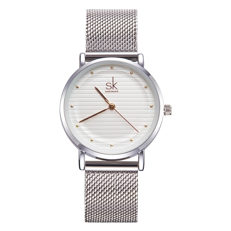 Dress Women Bracelet Watches NEW Quartz Stainless Steel Girl Wristwatch Clock Sliver Female Metal Bracelet zegarek damski enlarge