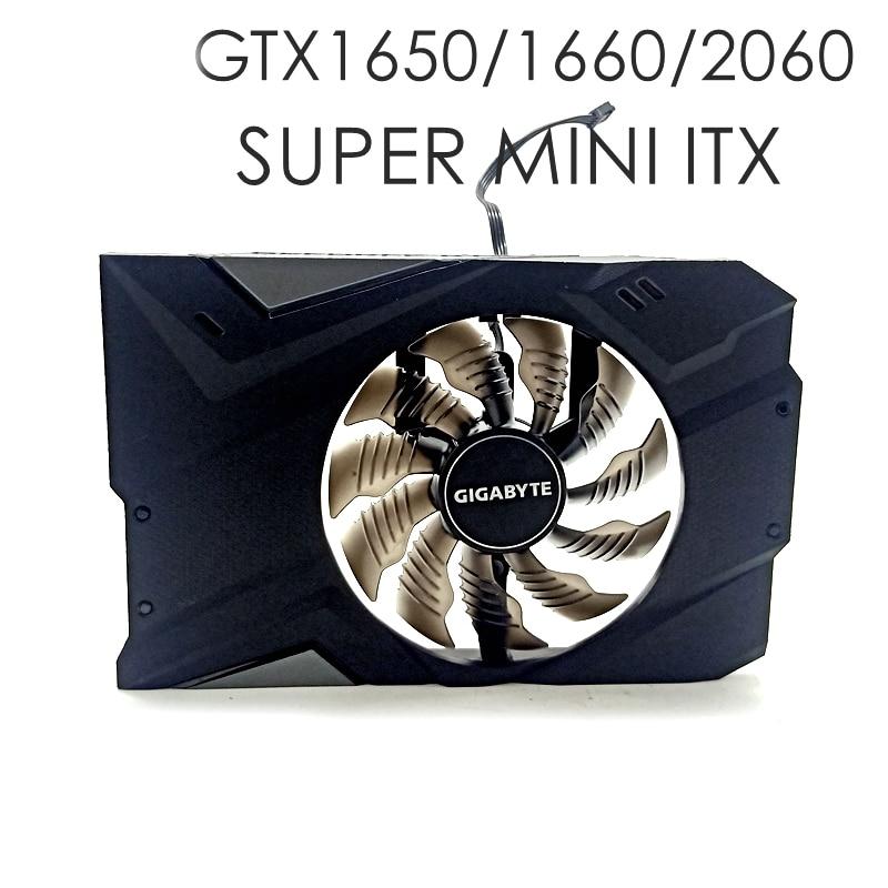 For Gigabyte GTX1650 1650/1660/2060 SUPER MINI ITX Cooling Fans Shell PLA09215B12H 4PIN