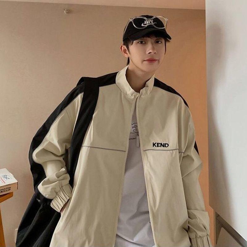 Куртка-бомбер мужская весенне-осенняя уличная одежда модные свободные повседневные куртки мужской топ в гонконгском стиле с квадратным вы...