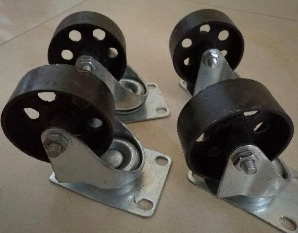 4 unids/lote rueda de 3,5 pulgadas D 8CM Total H 11,5 CM ruedas universales ruedas de estilo Retro Iron America ruedas industriales