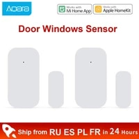 Xiaomi Aqara     Mini capteur douverture de porte fenetre  Zigbee  connexion sans fil intelligente  fonctionne avec telecommande mi home Homekit  1 a 4 pieces
