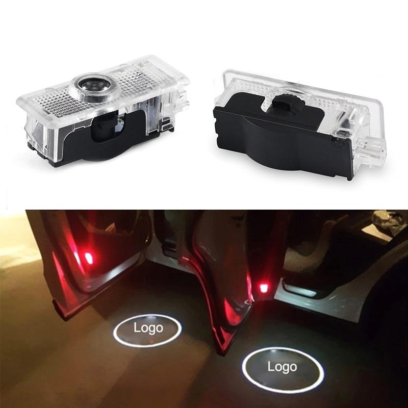 2 Pcs Car Door Led Logo Emblem Lamps Light Luces Compatible For Mercedes-Benz CLA Welcome Lamp CLA CLS A207 C207 Door LOGO