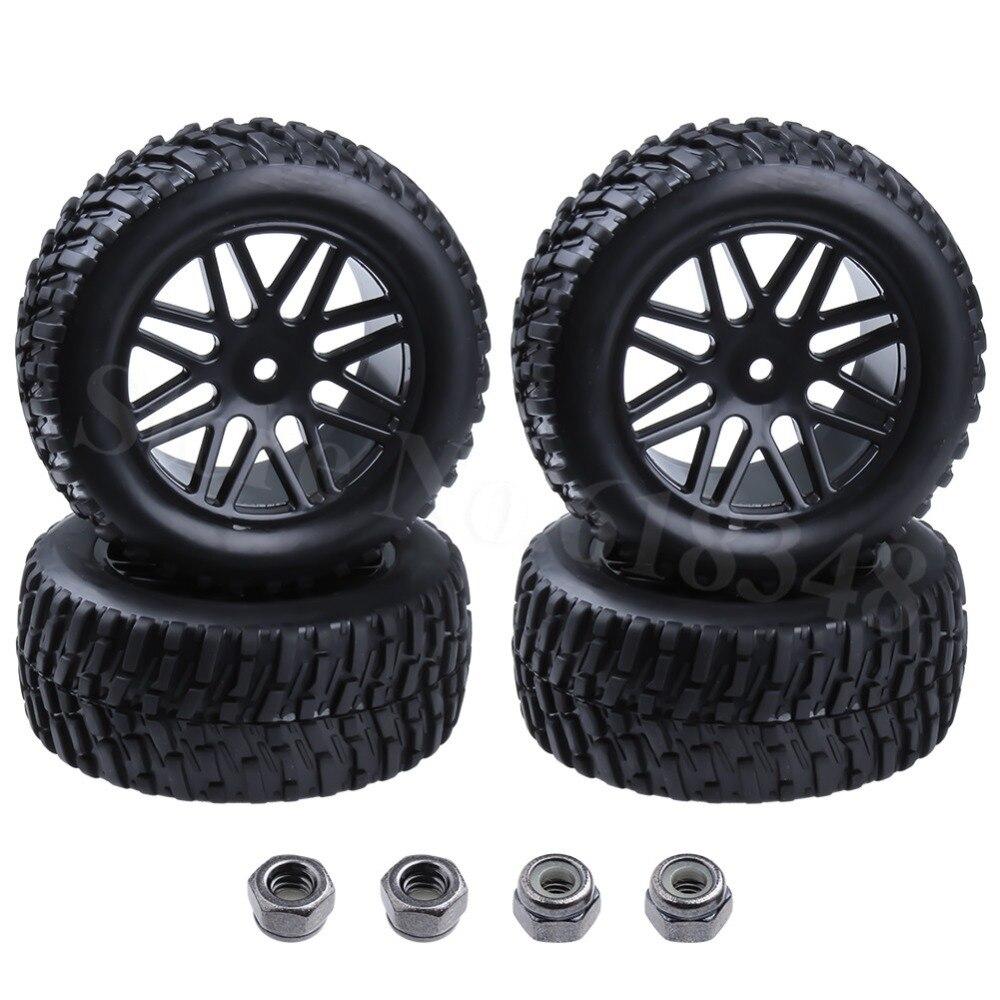 "4 Uds 2,2 de goma ""RC Rally monstruo neumáticos y llantas de ruedas de 12mm hexagonal 1/10 HSP HPI Tamiya Redcat superior neumático fuera de carretera"
