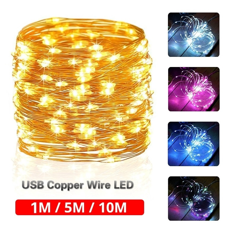 100 led string lights 10m 5m 1m usb waterproof copper silver wire garland fairy lights for christmas decoration wedding party 100 LED String Lights 10M 5M 1M USB Waterproof Copper Silver Wire Garland Fairy Lights For Christmas Decoration Wedding Party