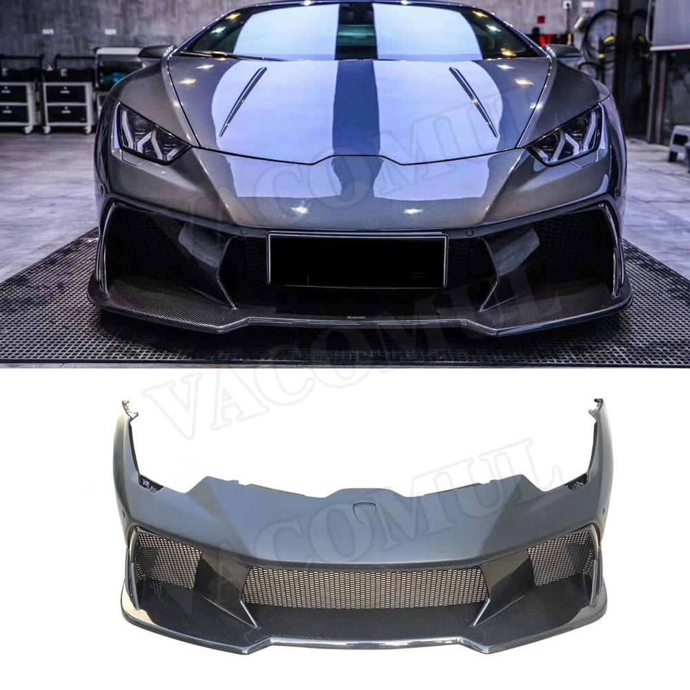 Carbon fiber Front Bumper Cover Head Mesh Grills case For Lamborghini Huracan LP610 LP580 V Style Facelift Body Kits