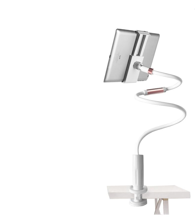 Купить с кэшбэком Desktop Phone Tablet Stands 130cm Tablet Holder Adjustable Mount For Tablet 4.0 To 10.6 inch Bed Tablet PC Stand Metal Support
