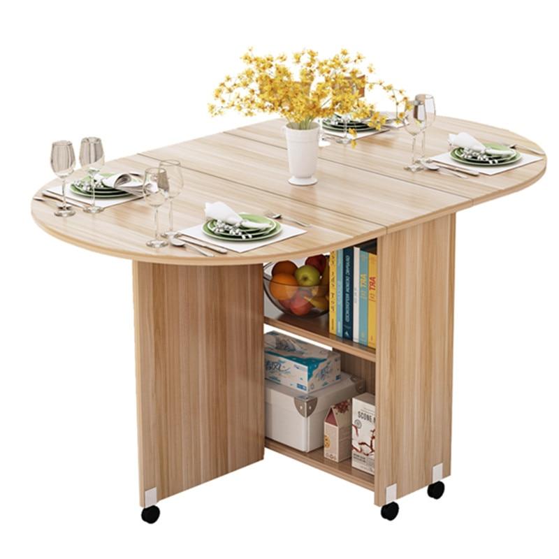 طاولة طعام قابلة للطي متحركة مع عجلة متعددة الاتجاهات خشبية خزانة طاولة المطبخ المحمولة ميسا Centro قابلة للرفع